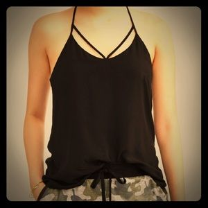 Tops - 🌟NWT: Caged T-back Tank Top. Soft Rayon. L